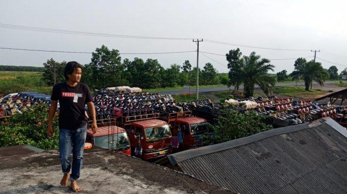 Pasca Jembatan Pematang Panggang Mesuji Amblas, Sopir Truk Ekspedisi dan Fuso Menjerit Uang Menipis!