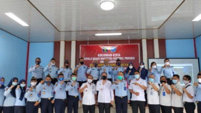 Kepala BNN Provinsi Lampung Kunjungan Kerja ke Lapas Kelas IIA Kota Metro