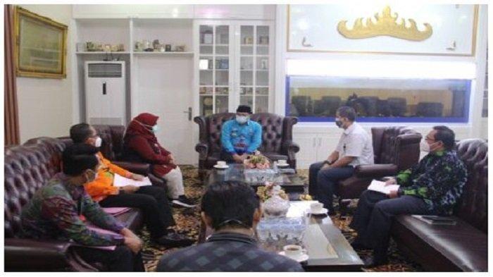 Kepala BPJS Ketenagakerjaan Bandar Lampung dan Kepala KCP Metro Audiensi dengan Wali Kota Metro