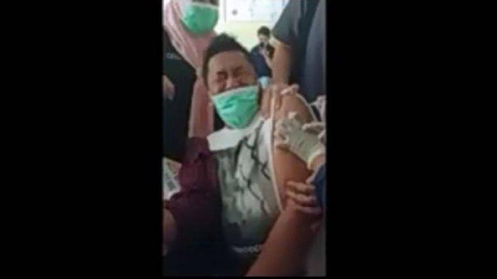 Viral Video Kepala Puskesmas Teriak-teriak Saat Divaksin Covid-19