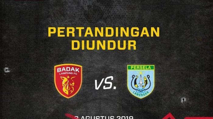 Laga Perseru Badak Lampung FC vs Persela Lamongan Ditunda, Laskar Joko Tingkir Sudah Ada di Lampung