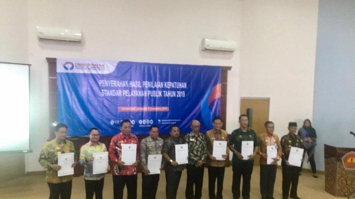 Kepatuhan Pelayanan Publik, Lampung Barat Masuk Zona Kuning dari Ombudsman