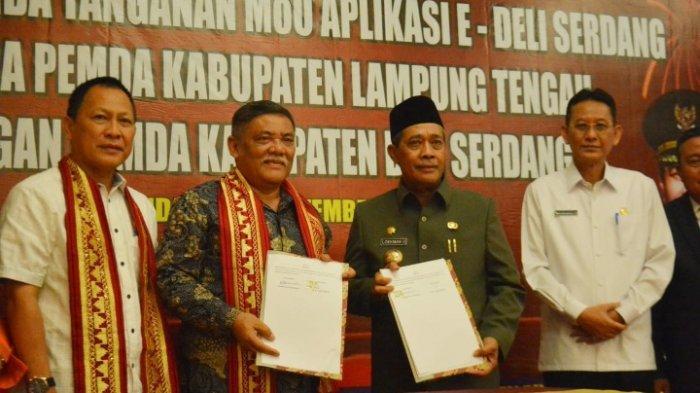 Lampung Tengah dan Deli Serdang Kerja Sama Pelayanan Izin Elektronik