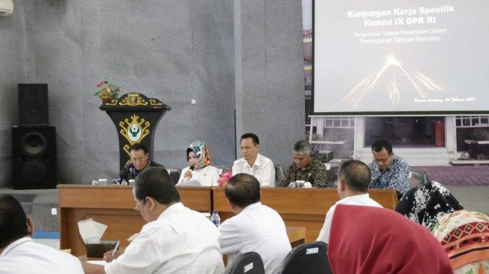 Respon Cepat Jajaran Kesehatan Pemprov Lampung Mendapat Apresiasi Komisi IX DPR RI