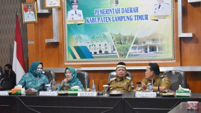 Ketua TP PKK Lampung Timur Berharap Mampu Menjadi Organisasi yang Tangguh