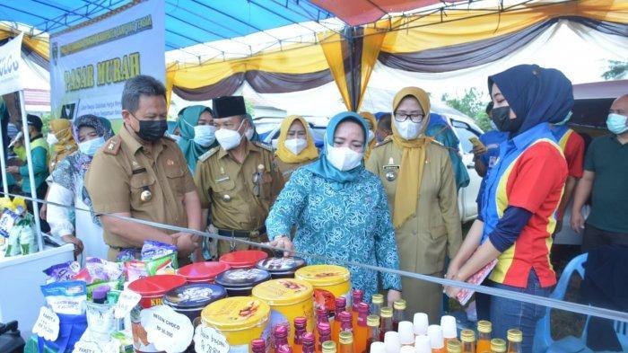 Ringankan Beban Warga, Pemkab Lampung Tengah Gelar Pasar Murah di Terusan Nunyai