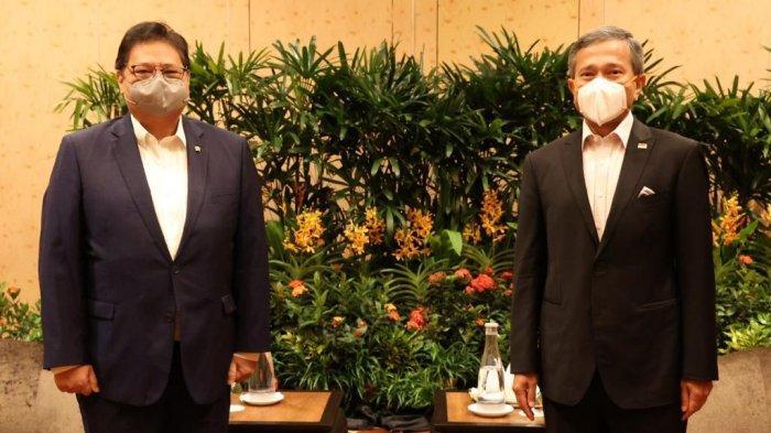 Menko Bidang Perekonomian Airlangga Hartarto Kunjungi Perdana Menteri Singapura Lee Hsien