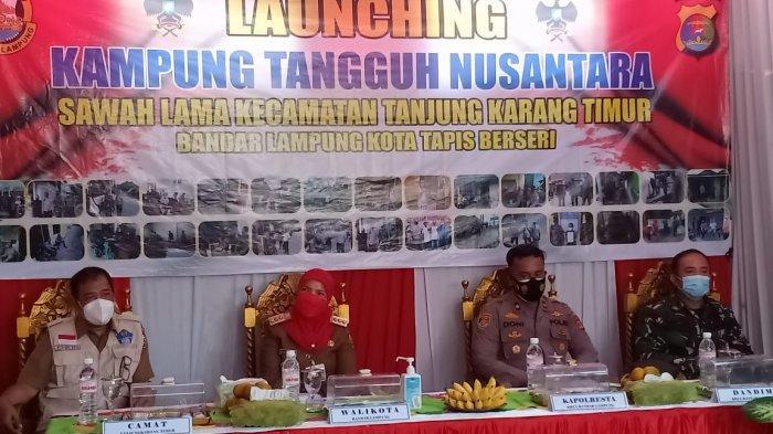 Danramil 410-04/TKT Mayor Inf Sutoto Hadiri Launching Kampung Tangguh Nusantara Kelurahan Sawah Lama