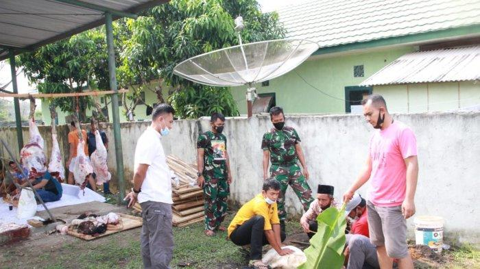 Kodim 0426/Tulangbawang Lampung Potong 1 Ekor Sapi dan 7 Kambing