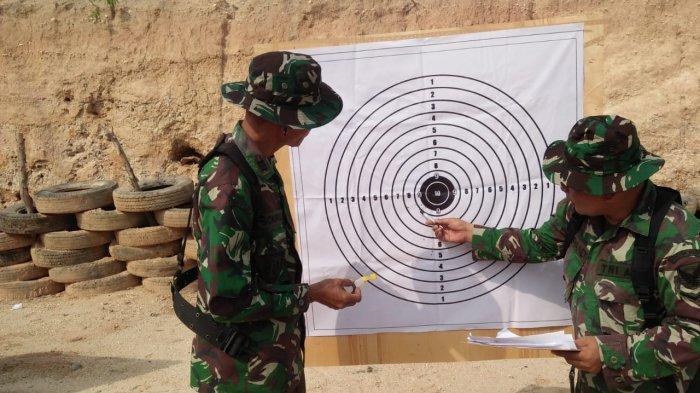 Kodim 0427/Way Kanan Gelar Latihan Kemampuan Menembak