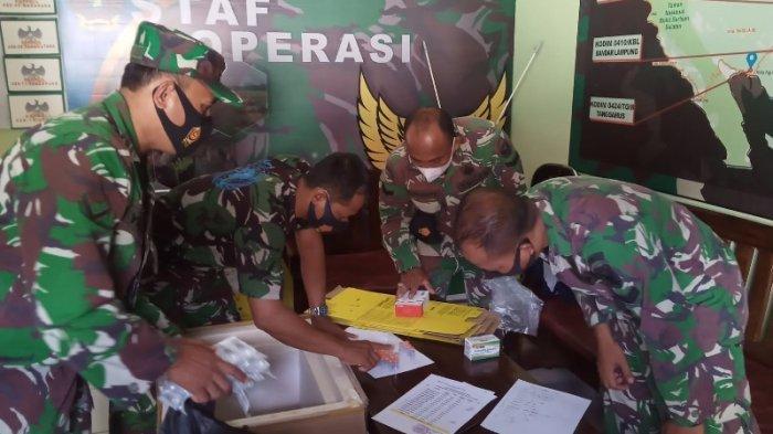 Kodim 0429/Lampung Timur Kembali Terima Vaksin Tahap I Sebanyak 1.900 Dosis