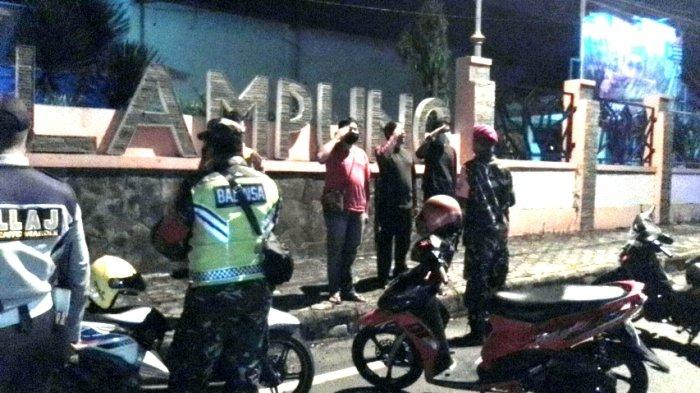 Kodim 0410 Bandar Lampung Konsisten Patroli Protokol Kesehatan pada Malam Hari di Pusat Keramaian