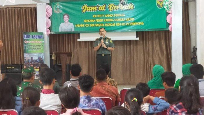 Dandim Kunjungi Panti Asuhan Kasih Nusantara Kecamatan Sukarame