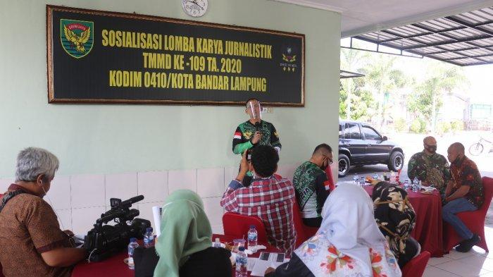 Kolonel Inf Romas Herlandes Sosialisasi Lomba Karya Jurnalistik TMMD Ke - 109 TA 2020