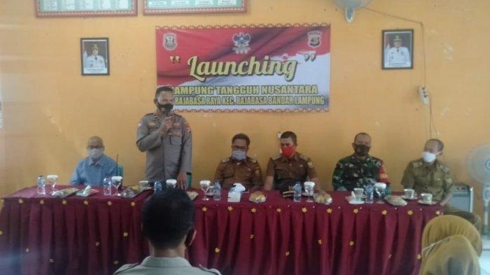 Babinsa Sertu When Shen Hadiri Launching Kampung Tangguh Nusantara Kecamatan Rajabasa