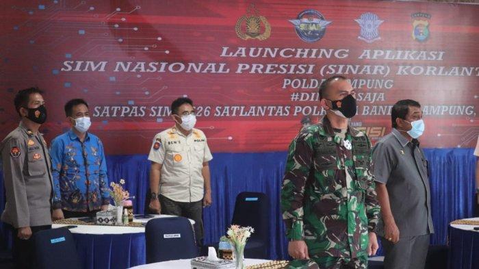 Kolonel Inf Romas Herlandes Hadiri Launching Aplikasi SIM Nasional Presisi