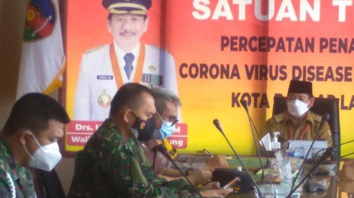 Kolonel Inf Romas Herlandes Hadiri Rakor Pembatasan Kegiatan Acara Pesta Bersama Pemkot