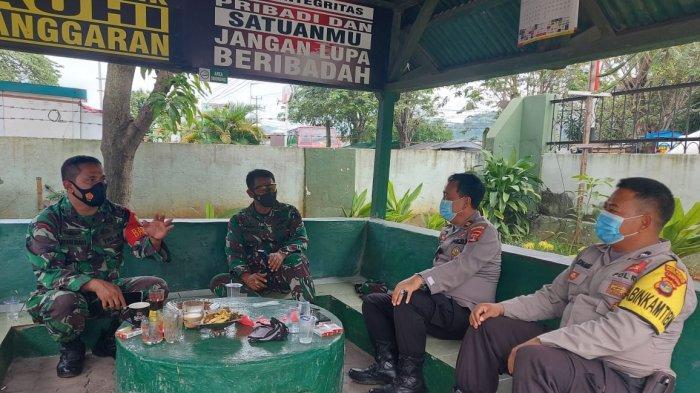 Wadan Ramil Kapten Cpl Made Diazmika Terima Kunjungan dari Kanit Bhinmas Polsek Panjang