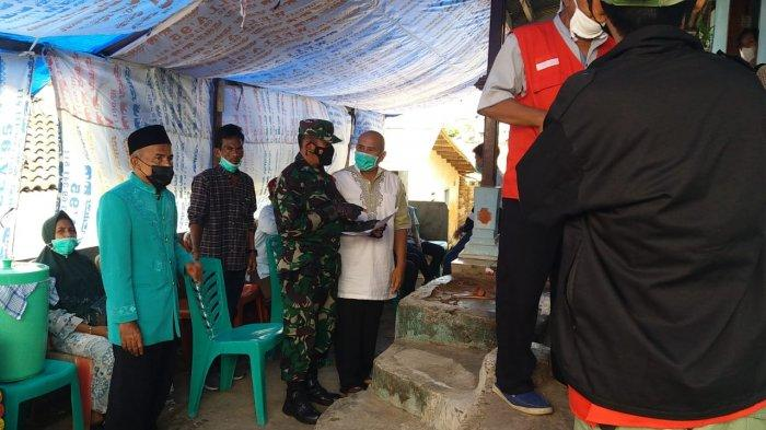 Cegah Penyebaran Covid, Koramil 410-05/TKP Pantau Prokes di Acara Hajatan Warga