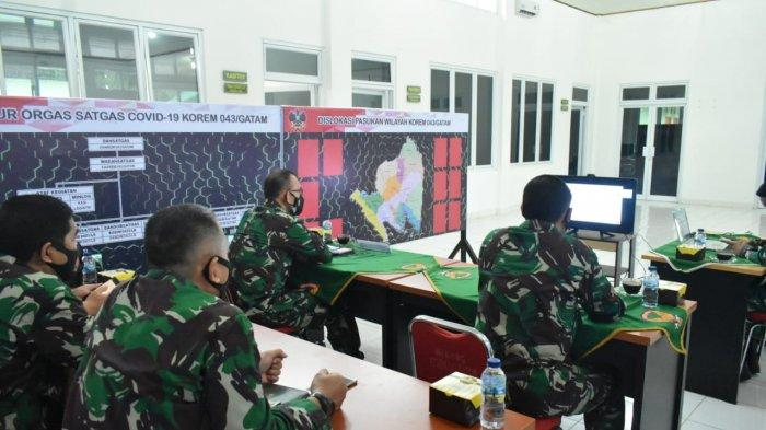 Komandan Kodim 0410/KBL Kolonel Inf Romas Herlandes Ikuti Rakornister TNI AD Secara Virtual