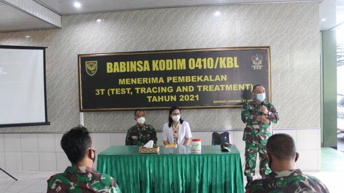 Kodim 0410/KBL Gelar Pelatihan 3T Testing,Tracing dan Treatment  Bagi Anggota Kodim