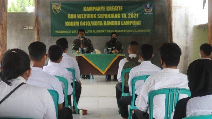 Kodim 0410/KBL Gelar Kampanye Kreatif dan Werving Sepanjang Tahun 2021 di Koramil 410-01/Panjang