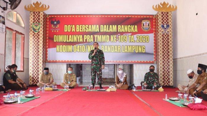 Persiapan TMMD ke 109, Dandim 0410/KBL Beserta Jajaran Doa Bersama di Musola Nurul Bathin Garuntang
