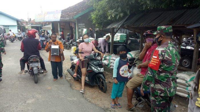 Antsipasi Penyebaran Covid 19, Satgas Terpadu Wajibkan Pengunjung Pasar Tani Gunakan Masker