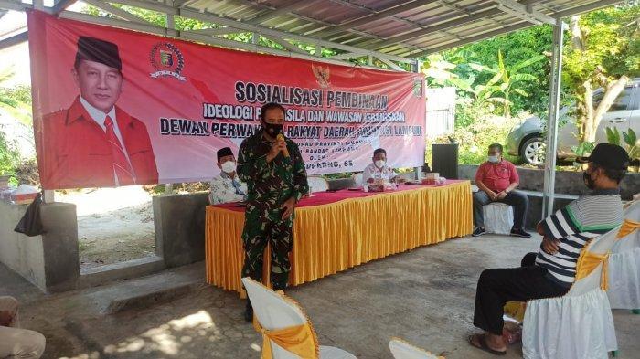 Danramil 410-04/TKT Sosialisasi Ideologi Pancasila dan Wawasan Kebangsaan di Kecamatan Kemiling