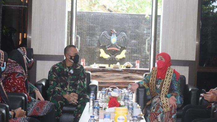 Komandan Kodim 0410/KBL Kolonel Inf Romas Herlande Terima Kunker Walikota Bandar Lampung