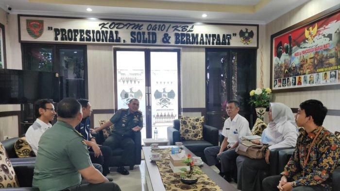 Kolonel Inf Romas Herlandes Terima Kunjungan Anggota KPU Kota Bandar Lampung