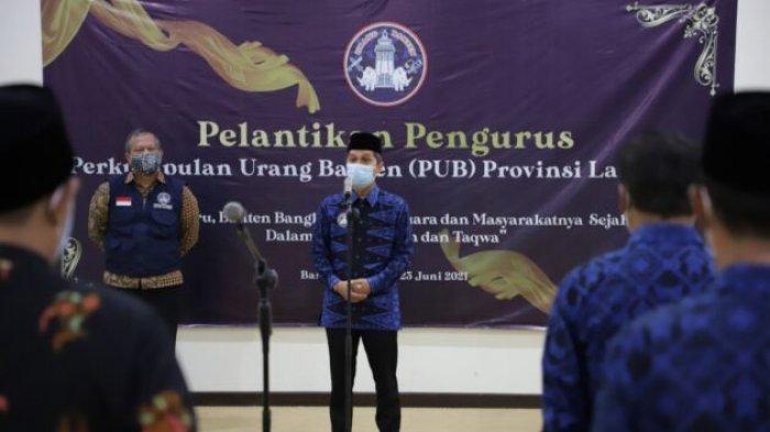 Rektor Unila Lantik Pengurus Perkumpulan Urang Banten Provinsi Lampung