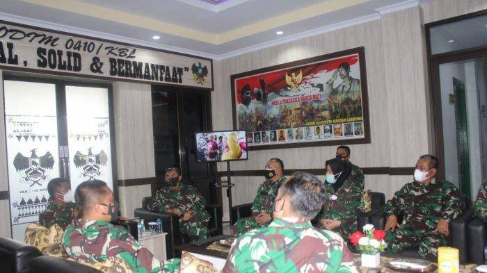 Kodim 0410/KBL Terima Kunker Pa Sahli Kasad Bidang Politik Dalam Negri Brigjen TNI Johanis Payung