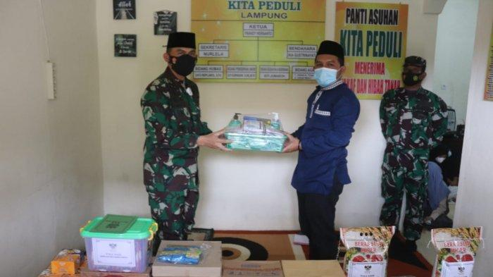 Bakti Sosial TNI, Romas Herlandes Beri Bantuan kepada Panti Asuhan Yatim Piatu Kita Peduli