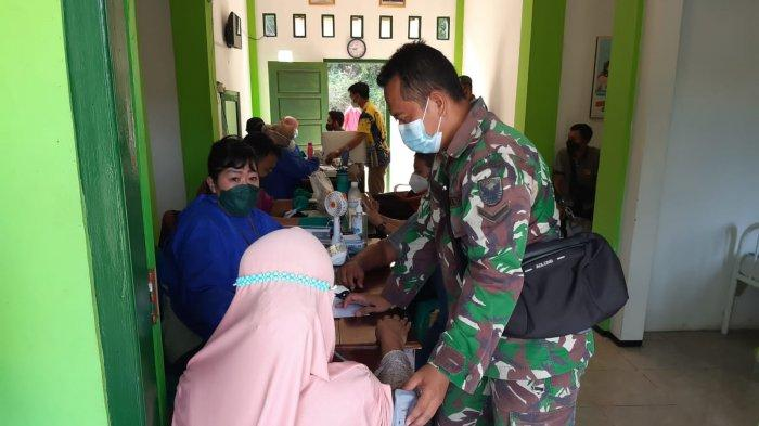 Kodim 0421 Lampung Selatan Beri 250 Vaksin Dosis Pertama