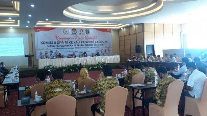 Komisi II DPR RI Evaluasi Pelaksanaan Pilkada 2020 di Lampung