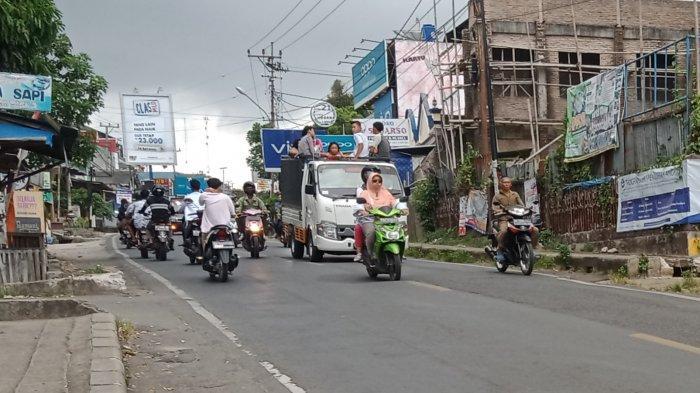 Hari Kedua Idul Fitri 2021, Jalinbar Tanggamus Padat Kendaraan