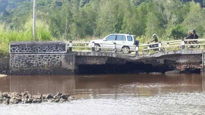 Dua Jembatan Rusak di Lampung Tengah Tak Kunjung Diperbaiki