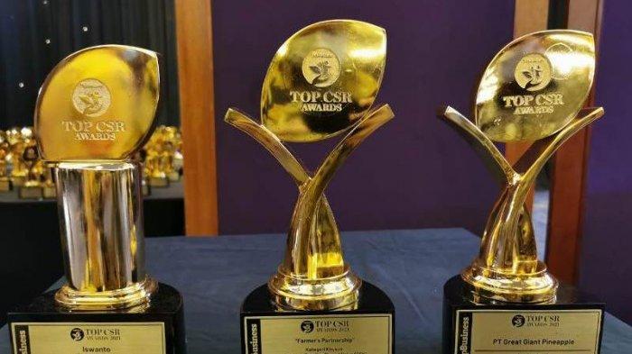 Konsisten Terapkan CSR dan CSV, PT GPP Raih Tiga Champion Top CSR Award 2021