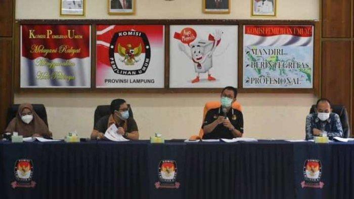 Hadapi Sengketa Pemilihan di MK, KPU Lampung Gelar Konsolidasi Internal Bersama 4 KPU Kabupaten/Kota