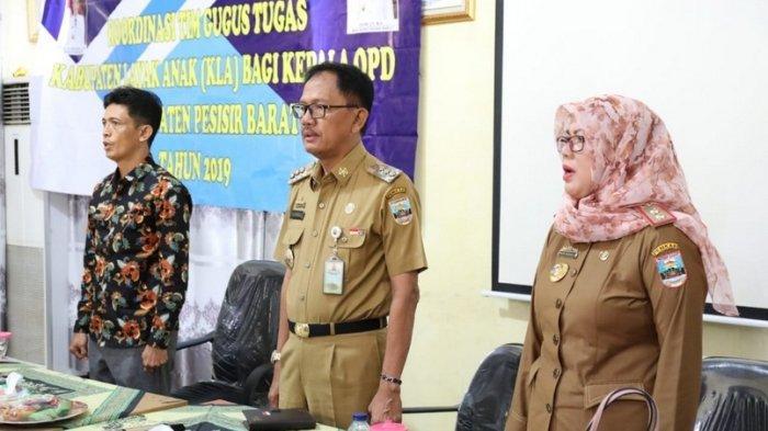 Koordinasi Kepala OPT Pesisir Barat dalam Tim Gugus Tugas Kabupaten Layak Anak (KLA) 2019