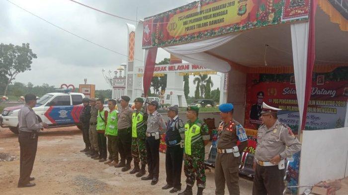 TNI dan Polri Sinergi di Pospam Tiyuh Tohou Tulangbawang