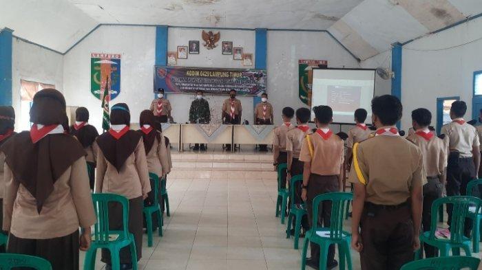 Koramil 429-09/Way Jepara Lampung Timur Berikan Wawasan Kebangsaan Kepada Peserta SWK