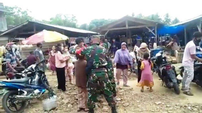 Danpos Koramil 427-04/Bahuga Way Kanan Lampung Kembali Ingatkan Warga akan Penerapan Prokes