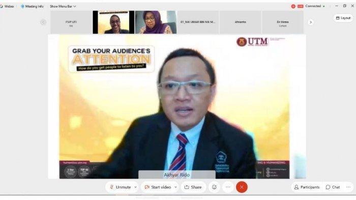 Dekan PTS Terbaik di Lampung, Universitas Teknokrat Jadi Dosen Tamu Webinar Internasional