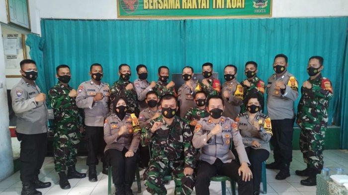 Perkuat Sinergitas TNI-POLRI, Danramil 410-02/TBS Terima Kunjungan Kapolsek Kemiling