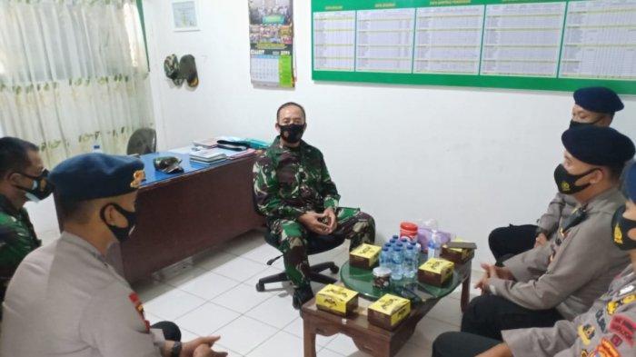 Danramil 410-04/TKT Mayor Inf Sutoto Terima Kunjungan Danki 1 Pelopor Brimobda Lampung
