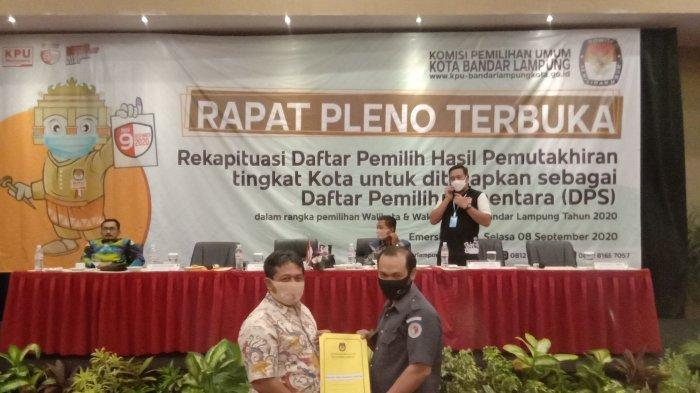 DPS Naik 2.736 Pemilih, Jumlah DPS di Bandar Lampung 640.910 Orang