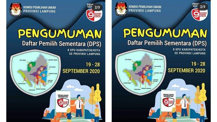 KPU Lampung Minta Warga untuk Merespon Cepat Pengumuman DPS di 8 Daerah