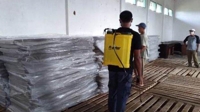 KPU Lampung Timur dan Pesawaran Terima Logistik Pilkada 2020 Tinta dan Bilik Suara